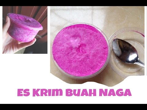 Video #makananAnak Resep Es krim Buah naga (Dragon fruit ice cream)