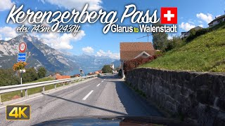 Driving the Kerenzerberg Pass🇨🇭from Glarus to Walenstadt | Scenic Drive Switzerland