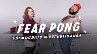 Democrats & Republicans Play Fear Pong (Chelsea vs. Tom) | Fear Pong | Cut