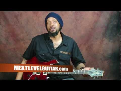 Learn how to play rock rhythms power chords palm muting electric guitar lesson