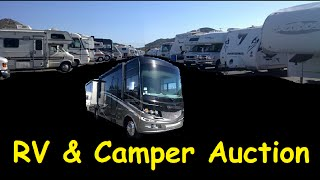 Recreational Vehicle Auction RV Campers Diesel Pusher Fifth Wheel Trailers
