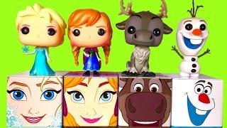 Disney FROZEN CUBEEZ Elsa Anna Olaf Sven Funko Pop Toys in SLIME