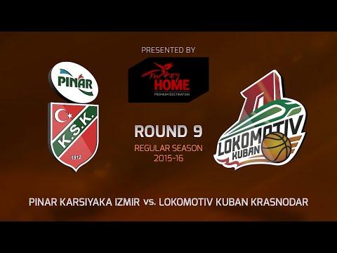 Highlights: RS Round 9, Pinar Karsiyaka Izmir 78-88 Lokomotiv Kuban