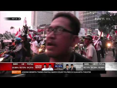 Relawan Jokowi Konvoi Kemenangan di Bundaran HI NET24