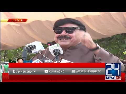 Sheikh Rasheed Addresses At Azad Kashmir On Kashmir Issue   22 Sep 2019