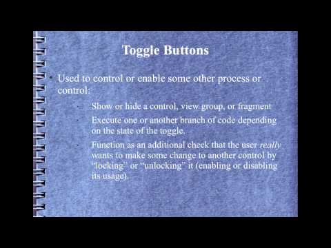 Android Development Course - Chapter 23 - Radio and Toggle controls