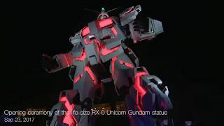 "SUGIZO performed at Opening Ceremony of ""Unicorn Gundam Statue"""