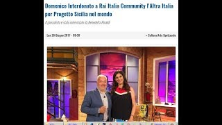 """""""Progetto Sicilia nel Mondo"""" Il direttore Domenico Interdonato a Rai Community"""