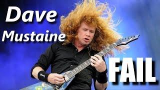 Dave Mustaine FAIL ┃RockStar FAIL