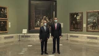 Su Majestad el Rey y Presidente de Portugal visitan el Museo Nacional del Prado