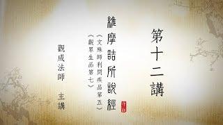 [Cantonese] 維摩詰所說經 - 第十二講 - 觀成法師 (粵語講述)