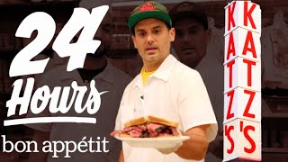 Working 24 Hours Straight at New York's Most Iconic Deli | Bon Appétit - dooclip.me