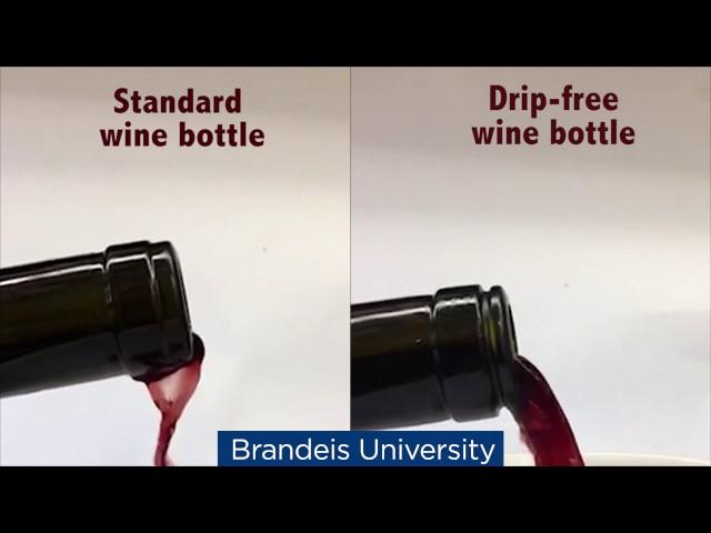 Биофизик изобрел непроливаемую винную бутылку
