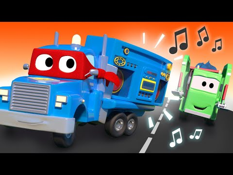 The siren truck -  Carl the Super Truck - Car City ! Cars and Trucks Cartoon for kids