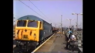 preview picture of video 'Trains In The 1990's   Peterborough, 26th May 1992 Part 1'