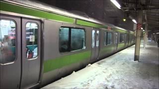 大雪の日の山手線・京浜東北線2014年2月8日