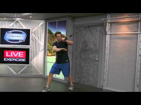 One Arm Chest Press with Resistance Bands