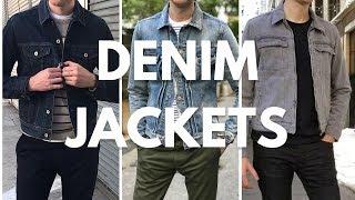 Mens Denim/Jean Jacket Lookbook - How To Wear & Style