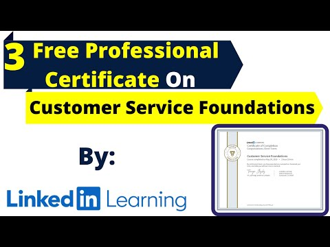 Free 3 Professional Certification Course On Customer Service ...