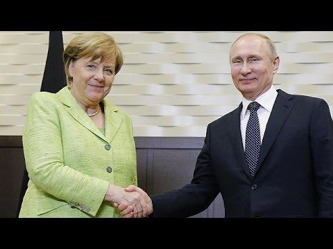 Η συριακή κρίση επί τάπητος στη συνάντηση Μέρκελ-Πούτιν