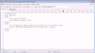 jQuery Tutorial - 6 - Document Ready Event