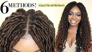6 Ways to Install Crochet Locs | New Individual Crochet Methods | Curly Goddess Locs ft Motown Tress