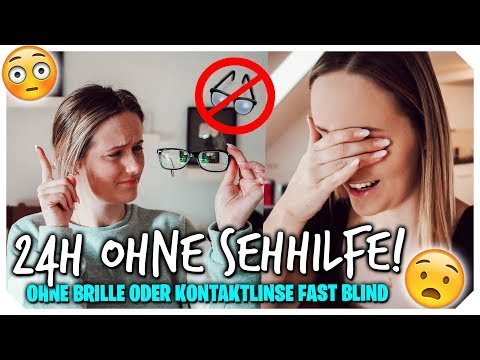 24 STUNDEN OHNE SEHHILFE 👓😳 Selbstexperiment in der Maulwurf Edt.😂 | Mone