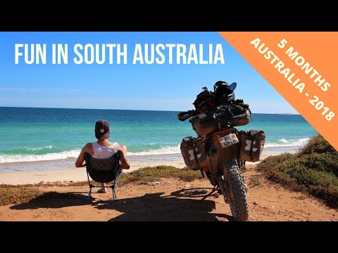 Motorcycle Trip / Fun in South Australia Fun (Port Linclon)