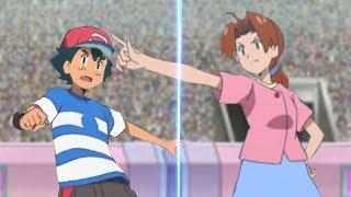 Pokemon Battle USUM Ash Vs Delia (Pokemon Mom and Son Face Off!)