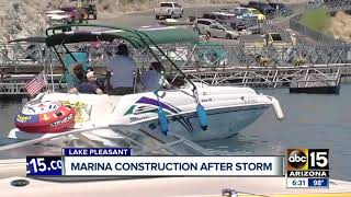 Lake Pleasant marina walkways still under construction nearly a year later