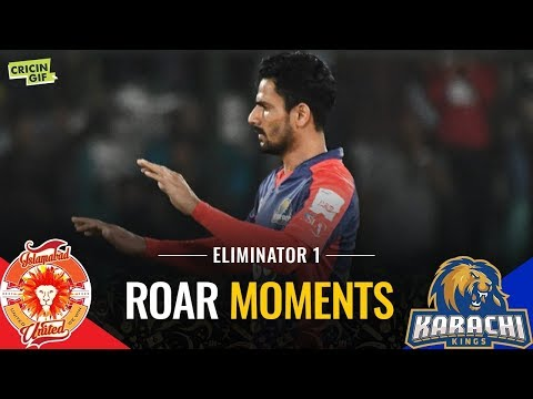 PSL 2019 Eliminator 1: Islamabad United vs Karachi Kings | Roar Moments