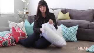 How to Get Perfectly Poofy Throw Pillows | withHEART