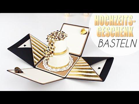 Exploding Box Tutorial | DIY Hochzeitsgeschenk basteln »Lalalunia«