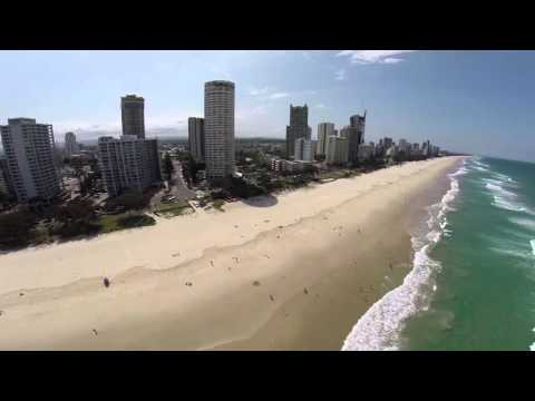 Surfers Paradise from drone