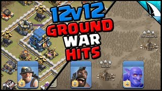 *Ground War Attacks* 12v12 | WHF & Hello4Now | Clash of Clans