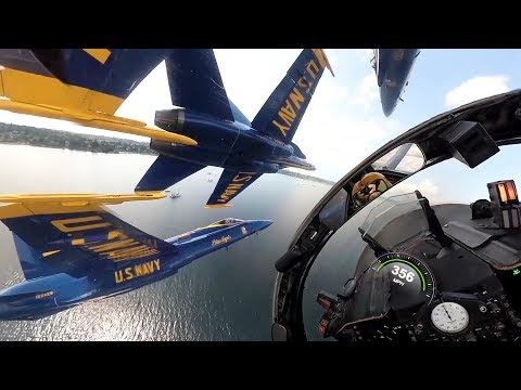 Never Before Seen View with the US Navy Blue Angels