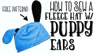 How To Make A Fleece Hat With Puppy Ears