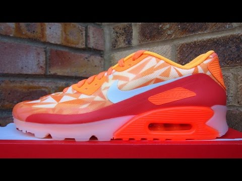 Review: Nike Air Max 90 Ice Atomic Mango (2014)