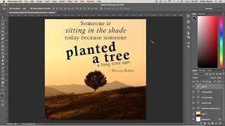 Create An Inspirational Quote Graphic In Photoshop