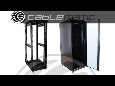 Montaje rack 19 RackMatic MobiRack armario rack de pie distribuido por CABLEMATIC ®