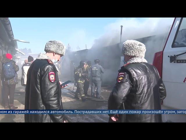 В Ангарске сгорело 5 гаражей