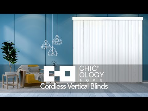 Video for Oxford Gray 84 x 78 In. Cordless Patio Door Vertical Blinds