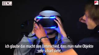 """Sony zeigt Virtual-Reality-Brille """"Project Morpheus"""""""
