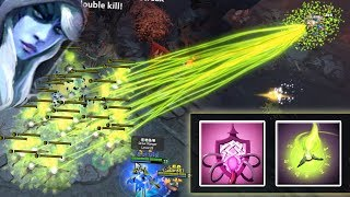 First Pick Drow + Bad JuJu = Nether WALL [One Shot - BOOM. 40 Pugna Wards] Dota 2 Ability Draft