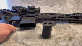 Vertical foregrip install polyblank