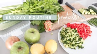 Productive Sunday Routine - Meal prep, Cleaning & Preparing For The Week