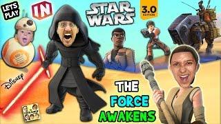 Lets Play DISNEY INFINITY 3.0 - STAR WARS: The Force Awakens (Kylo Ren, Poe, Finn & Rey) W/ Skit