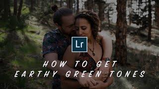 How To Get EARTHY GREEN TONES In Lightroom (Elopements & Weddings)