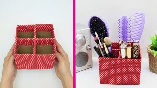 8 MAKEUP ORGANIZER DIYS AND CRAFT IDEAS || COOL AND EASY STORAGE IDEAS