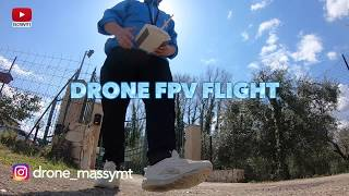 FLIGHT WITH DRONE FPV FREESTYLE